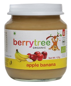 Picture of Berrytree Apple And Banana Organic Puree - 125 gm