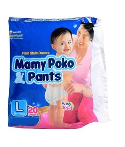 Picture of Mamy Poko Pants Pant Style Diapers Large - 9-14 Kg 20pc