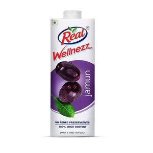 Picture of Real 100% Juice - Wellnezz Jamun 1 ltr Carton