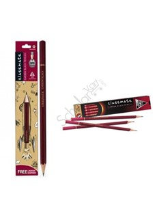 Picture of Classmate Carbon Black - Pencils , Pack Of 10