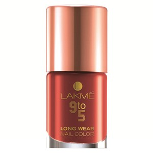 Picture of Lakme 9 To 5 Long Wear Nail Color Red League 9 ml
