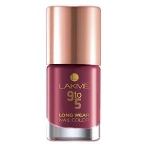 Picture of Lakme Long Wear Nail Colour Berry Business 9 ml