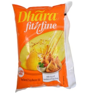 Picture of Dhara Fit n Fine Refined Soyabean Oil 1ltr